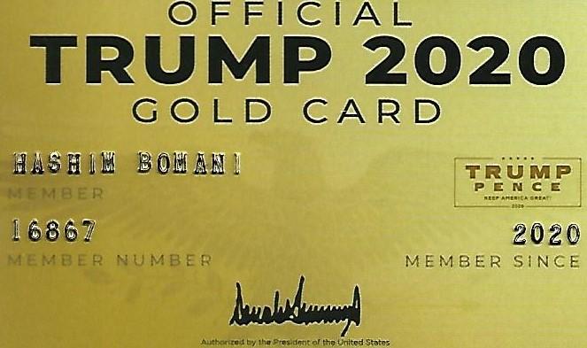 TRUMP GOLD CARD