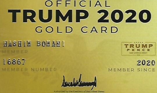 TRUMP GOLD CARD