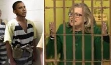 OBAMA HILLARY IN JAIL