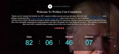 WELFARE CUT COUNTDOWN