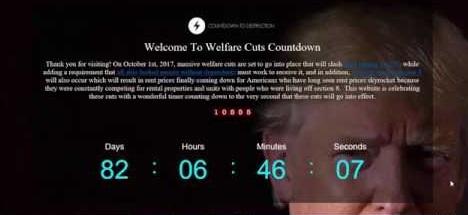 WELFARE CUT COUNTDOWN