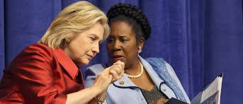 HILLARY AND SHEILA JACKSON LEE