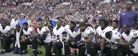 BLACK NFL PROTEST 1