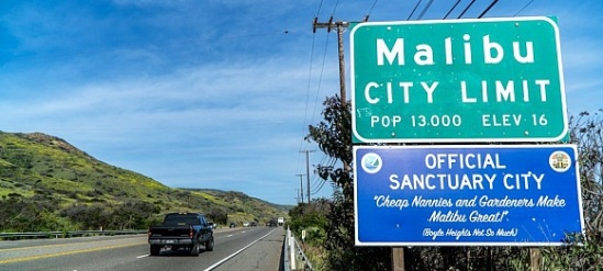 Malibu-Sanctuary-City-sign-cheap-nannies