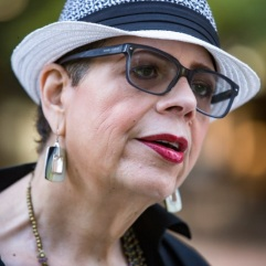 Karen Lewis the president of the Chicago Teachers Union outside Dr. Martin Luther King Jr. College Preparatory High School in Chicago on the first day of the CPS school year, Tuesday, September 6, 2016.   James Foster/For the Sun-Times