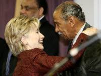 HILLARY AND CONYERS