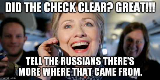 HILLARY PAID RUSSIANS