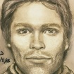 This artist's drawing released by attorney Michael Avenatti, reports to show the man that the adult film actress Stormy Daniels says threatened her in a Las Vegas parking lot in 2011 to remain quiet about her affair with President Donald Trump. (Michael Avenatti via AP)