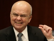 CIA Director Michael Hayden gestures during a news conference at CIA headquarters in Langley, Va., Jan. 15, 2009.