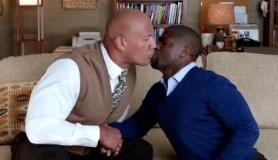 THE ROCK AND KEVIN HART KISS
