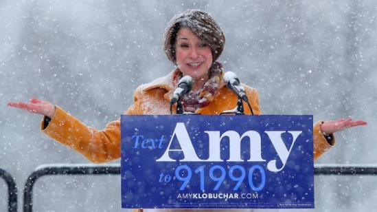 AMY KLOBUCHAR IN SNOW