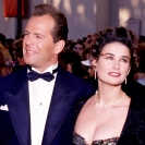 Bruce Willis & Demi Moore photographed at the Emmys at the Pasadena Civic Auditorium in Los Angeles, California (Photo by Ron Wolfson/WireImage)