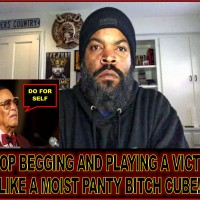 """ICE CUBE BEGS FOR """"STUFF"""" AND HIS DADDY FARRAKHAN TOLD HIS PUNK ASS TO """"DO FOR SELF""""... STAY AWAY FROM MY F%CKING POCKET, CUBE!"""