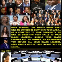 THESE COWARD ASS BLACK LEADERS ALWAYS SHOW UP AFTE…